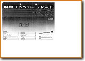 Yamaha CDX-420 CD Player Main User Book - PDF & Tech Help* | English