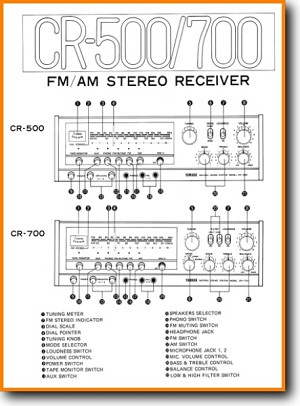 Yamaha CR-500 Amp Receiver Main Schematics - PDF & Tech Help* | English