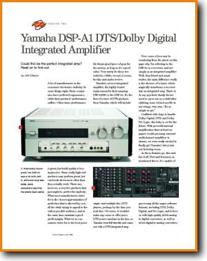Yamaha DSPA-1-DTS Amp Receiver Main Article - PDF & Tech Help*   English