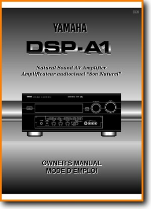 Yamaha DSPA-1 Amp Receiver Main User Book - PDF & Tech Help* | English