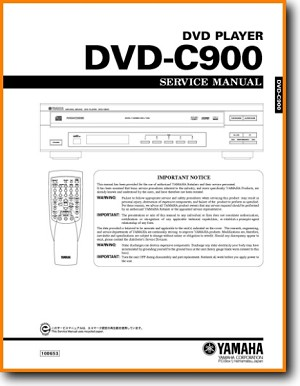 Yamaha DVDC-900 DVD Player Main Technical Manual - PDF & Tech Help* | English