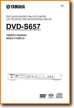 Yamaha DVDS-657 DVD Player Main User Book - PDF & Tech Help* | English