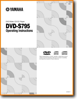 Yamaha DVDS-795 DVD Player Main User Book - PDF & Tech Help* | English