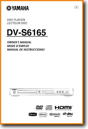 Yamaha DVS-6165 DVD Player Main User Book - PDF & Tech Help* | English