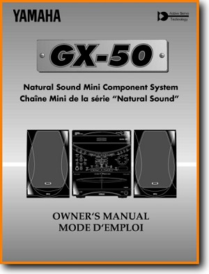 Yamaha GX-50-RDS Mini Shelf System Main User Book - PDF & Tech Help* | English