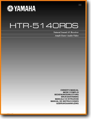Yamaha HTR-5140-RDS Amp Receiver Main User Book - PDF & Tech Help* | English