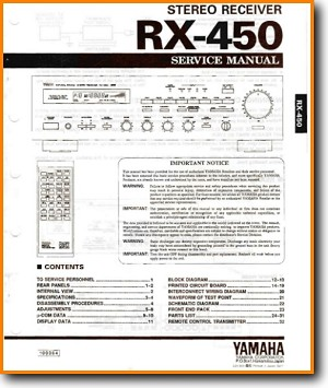 Yamaha Rx 450 Solid State Amp Receiver On Demand Pdf Download English