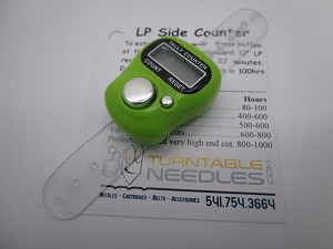 LP Record Side Tally Basic Counter as a Timer for your Stylus
